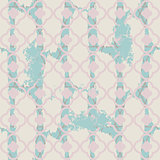 Brushed quatrefoil pale blue seamless vector pattern.