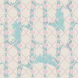 Brushed quatrefoil pale blue seamless vector pattern.