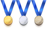 Gold, silver and bronze medal for winter sport game