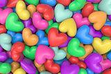 Multicolor hearts background
