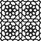 Seamless arabic geometric ornament in black and white