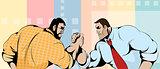 Struggle of businessmen