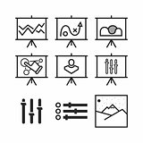 Set of simple icons