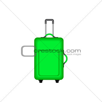 Travel suitcase in green design