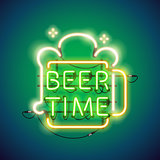 Beer Time Neon Sign