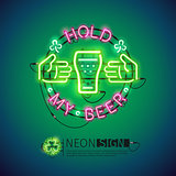 Hold My Beer Neon Sign Colorful