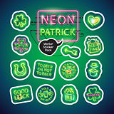 Neon St Patricks Day Sticker Pack