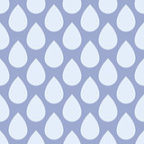 Seamless pattern with rain drops