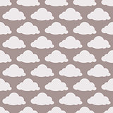 Beige seamless background with clouds