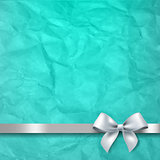 Mint Paper Texture Background With White Bow