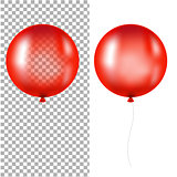 Red Balloons Isolated