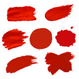 Red Blots Isolated