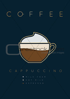 Poster coffee cappuccino