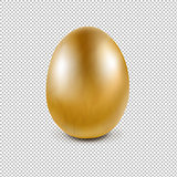 Golden Egg Isolated Transparent Background