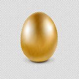 Golden Egg Isolated Transparent Background