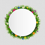 Grass Border Banner Ball Transparent Background