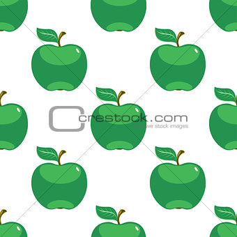 Apple green white seamless pattern background