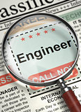 Engineer Hiring Now. 3D.