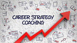 Career Strategy Coaching Drawn on White Wall.