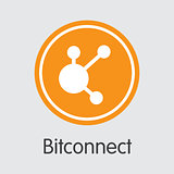 Bitconnect - Cryptocurrency Logo.