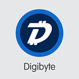 Digibyte - Cryptocurrency Logo.