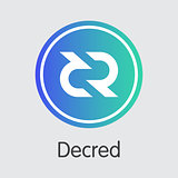 Decred - Cryptocurrency Logo.
