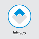 Waves - Cryptocurrency Logo.