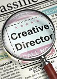 Creative Director Hiring Now. 3D.