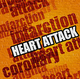 Healthcare concept: Heart Attack on the Yellow Brick Wall .
