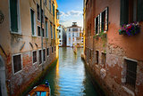 Narrow channel in Venice