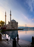 Ortakoy Mosque at dawn
