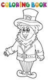 Coloring book leprechaun 1