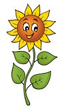 Happy sunflower theme image 1