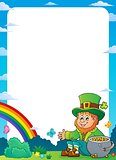 Sitting leprechaun theme frame 1