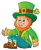 Sitting leprechaun theme image 1