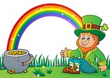 Sitting leprechaun theme image 2