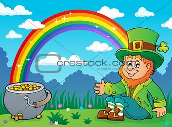 Sitting leprechaun theme image 3