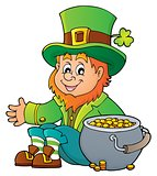Sitting leprechaun theme image 4