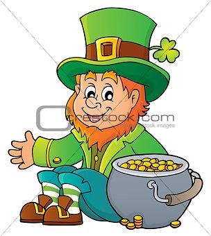 Sitting leprechaun theme image 4
