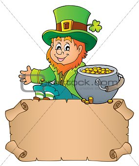Small parchment with leprechaun theme 3