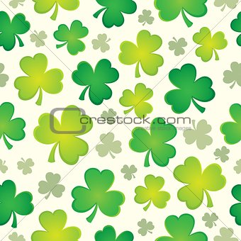 Three leaf clover seamless background 1