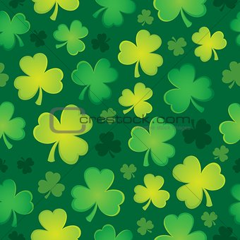 Three leaf clover seamless background 2