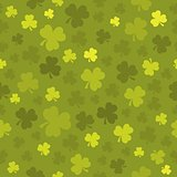 Three leaf clover seamless background 3