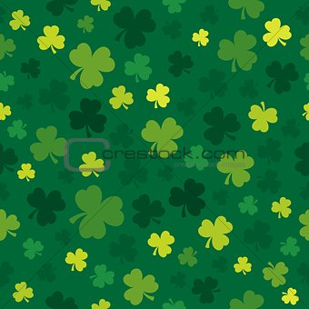 Three leaf clover seamless background 4