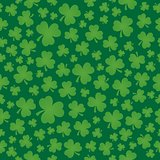 Three leaf clover seamless background 6