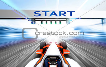 3D illustration of sport competition