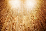 wooden floor covering