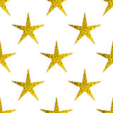 Golden glitter stars on a white background