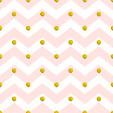 Pink chevron seamless pattern
