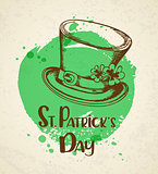 Vintage greeting card for St. Patrick's day